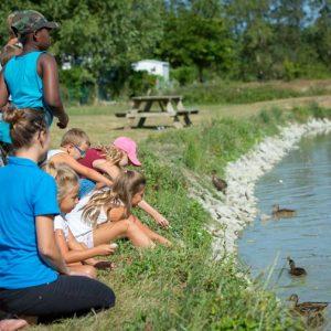 Balade à l'étang avec le club enfants