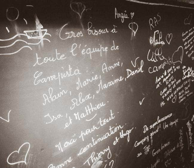 Messages sur le bar